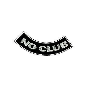 Aufnäher Ecusson Brode Thermocollant Biker Biker No Club Moto Skull Rucksack
