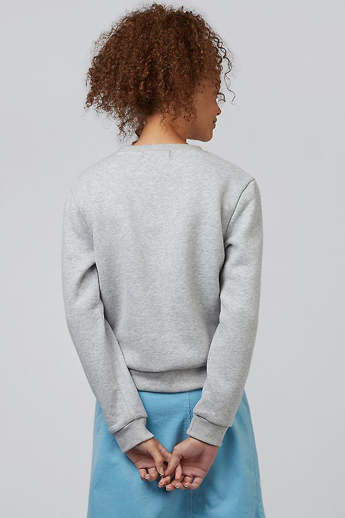 Louche Jan En Vacances Slogan Sweatshirt Grey