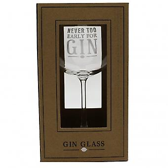 Never Too Early For Gin Novelty Gin Glass