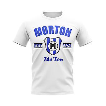 Greenock Morton etablerte fotball T-skjorte (hvit)
