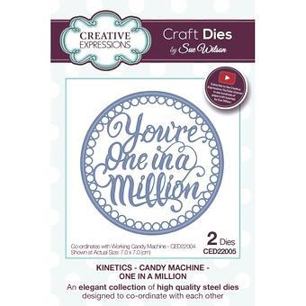 Craft dö CED22005 Sue Wilson Kinetics - Candy maskin - en i en miljon