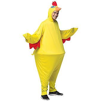 Kylling chick Rooster dyr gård Hoopster Funny voksen dame Herre kostume OS