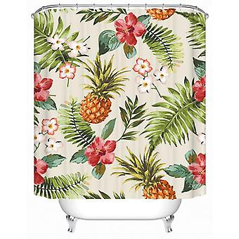 Flowery Pineapple Shower Curtain