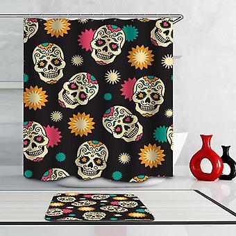 Sugar Skulls Pattern Shower Curtain