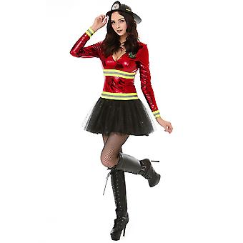 Women's Hot Stuff Firefighter Halloween Costume, Small