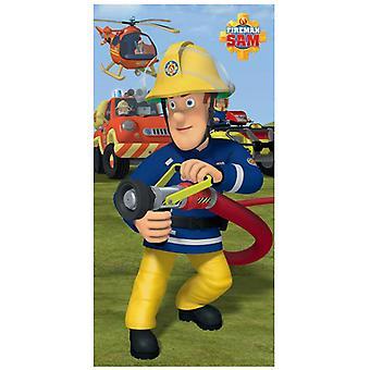 Brandweerman Sam blussen handdoek