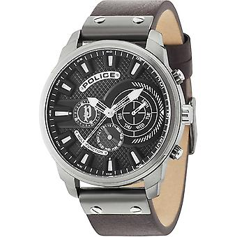 Police Leicester Quartz Analog Man Watch with R1451285003 Cowskin Bracelet