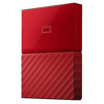 Wd My Passport 2Tb Usb 3 Portable Hard Drive Red