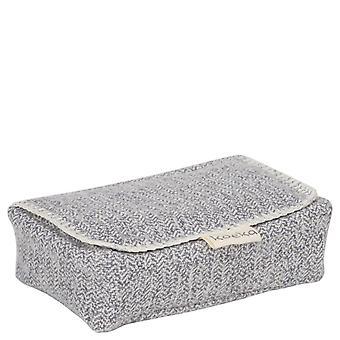 Pastel un estuche para toallitas de bebé Vigo Sparkle Grey