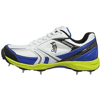 Kookaburra 2019 Pro 500 Dual Option Herren Cricket Schuh Spike Weiß/Blau