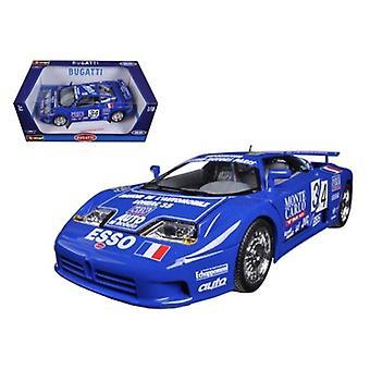 Bugatti EB 110 Blue #34 La Mini Mineria 1/18 Diecast Car Model par Bburago