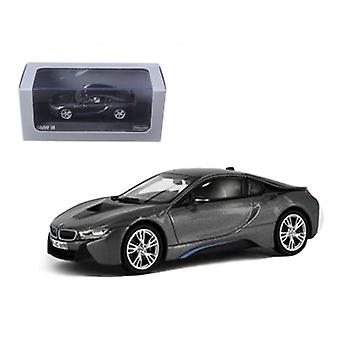 BMW i8 Grey avec Blue 1/43 Diecast Model Car par Paragon
