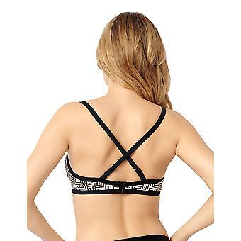 Miss Sans Complex 78AAF05 Dames's Casablanca Black Graphic Print Underwired Swimwear Beachwear Bikini Top