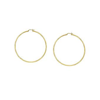 10k Yellow Gold Polished Hoop Earrings Measures 2x35mm Jewelry Gifts for Women - 1.5 Grams