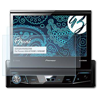 Bruni 2x Screen Protector compatible with Pioneer AVH-X7700BT / X7800BT Protective Film