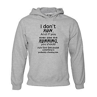 Problème de réalité i don'apos;t courir hoodie mens