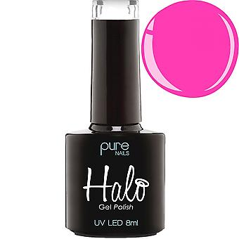 Halo Gel Nails LED/UV Halo Gel Polish Collection - Neon Coral 8ml (N2832)