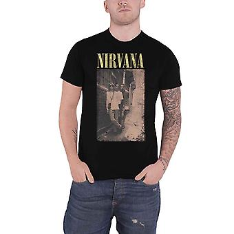 Nirvana T Shirt Alleyway Band Logo new Official Mens Black