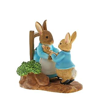 Beatrix Potter At Home by the Fire with Mummy Rabbit Collector's Figurine - Boxed