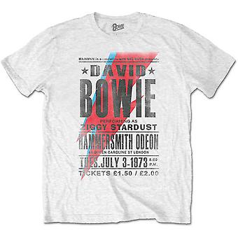 White David Bowie Live at the Hammersmith Odeon Official T-Shirt
