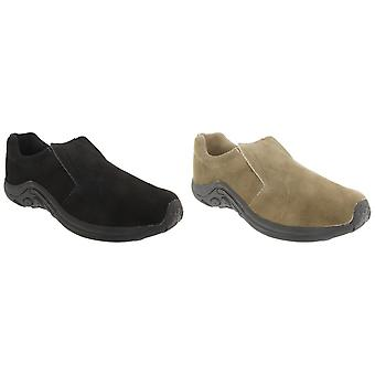PDQ Adults Unisex Real Suede Ryno Slip-On Casual Trainers