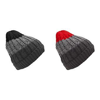 Tom Franks Mens Faux Fur Knitted Winter Hat