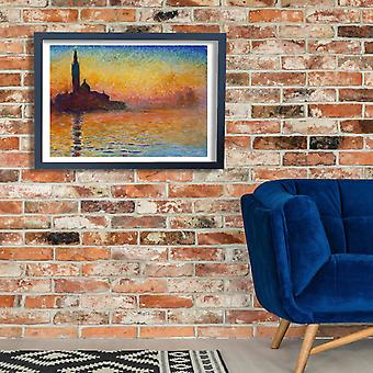 Claude Monet - Sunset In Venice Poster Print Giclee