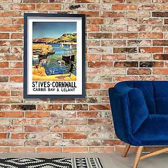 St Ives Railway Poster Print Giclee