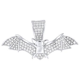 Premium Bling-925 Sterling Silver Bat Pendant