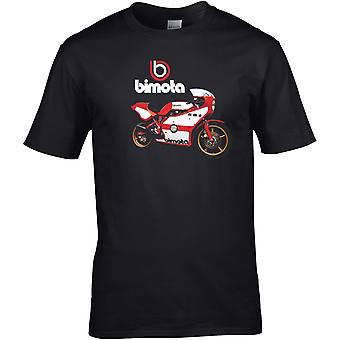 Bimota Classic Röd Vit Racer - Motorcykel Motorcykel Biker - DTG Tryckt T-shirt