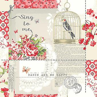 671300 - Sing To Me Red - Arthouse Wallpaper