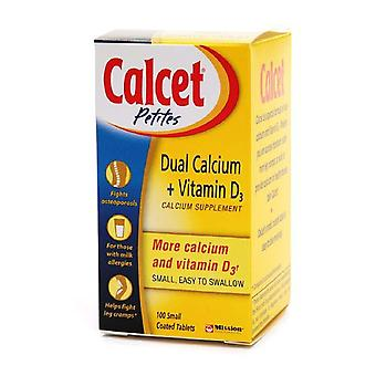 Calcet dobbelt calcium + d3-vitamin calcium supplement, tabletter, 100 ea