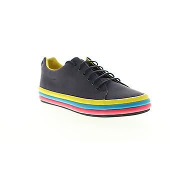 Camper Reifen Womens Blue Canvas Low Top Lace Up Euro Sneakers Schuhe