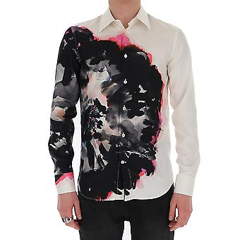 Alexander Mcqueen 609036qoq169060 Men's White Cotton Shirt
