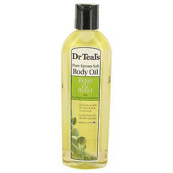 Dr Teal van Bad additieve Eucalyptus olie puur Epson zout Lichaamsolie ontspannen & reliëf met Eucalyptus & Spearmint door Dr Teal van 8.8 oz Pure Epson zout Lichaamsolie ontspannen & reliëf met Eucalyptus & Spearmint