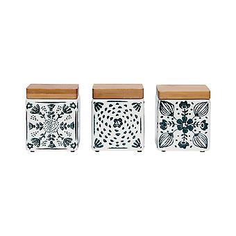 Ladelle Dwell Emerald Mini Set of 3 Canisters