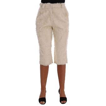 Dolce & Gabbana Beyaz Xiangao Kuzu Kürk Kırpılmış Pantolon - BYX1795376