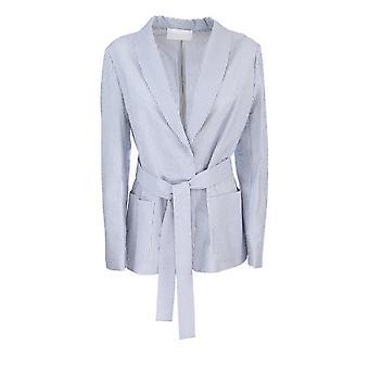 Fabiana Filippi Gcd270w557a777vr3 Women's Blue Cotton Blazer