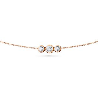 Body Chain Trilogy 18K Gold and Diamonds - Rose Gold, XX Large