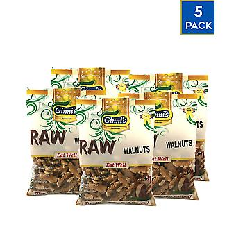 Ginni-apos;s Noix crues Noix 5 Pack x 50gr Collation saine Naturelle