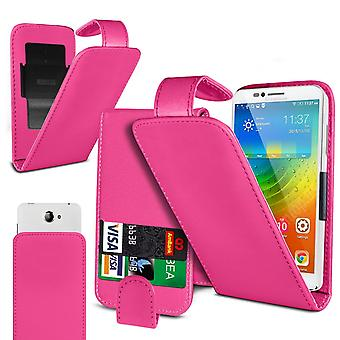 Energizer Energy E11 Large Hot Pink Clamp Style PU Cuir Flip Phone Case