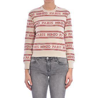 Kenzo Fa52pu50681202 Women's White Cotton Sweater