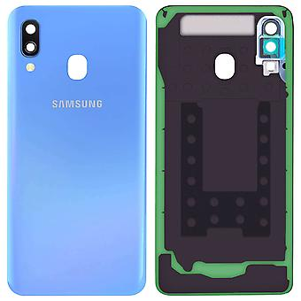 Housing part back cover, spare part for Samsung Galaxy A40 - Blue