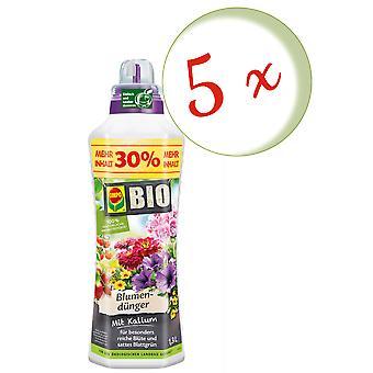 Sparset: 5 x COMPO BIO flower fertilizer, 1.3 litres