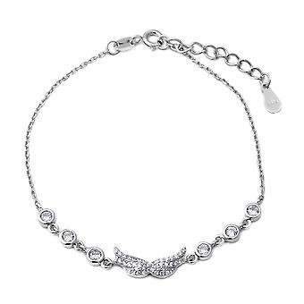 "ELANZA 1.3 Ct Cubic Zirconia CZ Charm Bracelet Sterling Silver Sz 6.75"" 1"""