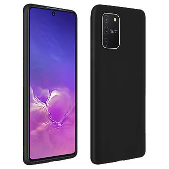 Case Galaxy S10 Lite Soft Silicone Matte Black + Protecteur d'écran flexible