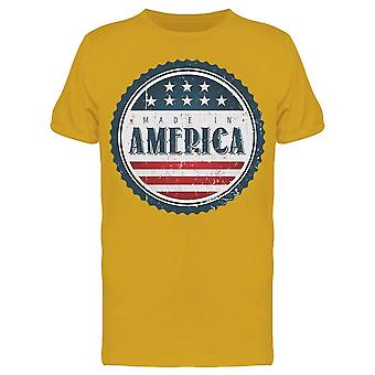 Pulsante: America, National Colors Tee Men's -Image di Shutterstock