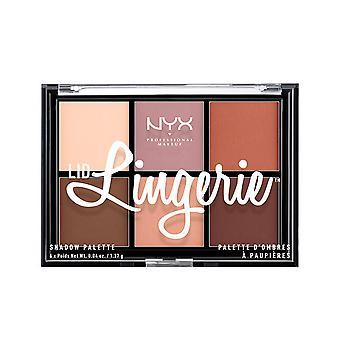 Nyx Maquillaje Profesional Lencería Lencería Paleta de Sombras 6x1,37 Gr Para Mujer