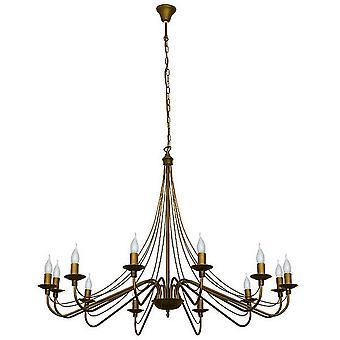 Lilium Suspension Lampe Couleur Or, Métal cuivre, L85xP85xA108 cm