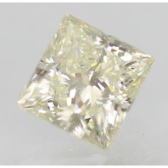 Certified 0.75 Carat J VVS2 Princess Enhanced Natural Diamond 5.22x4.84mm 2EX